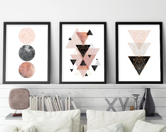 Trending Now Art Set of 3 prints Minimalist Poster