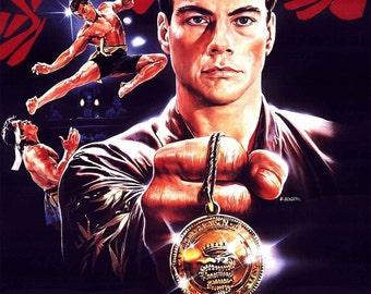 BLOODSPORT Movie Poster Jean-Claude Van Damme