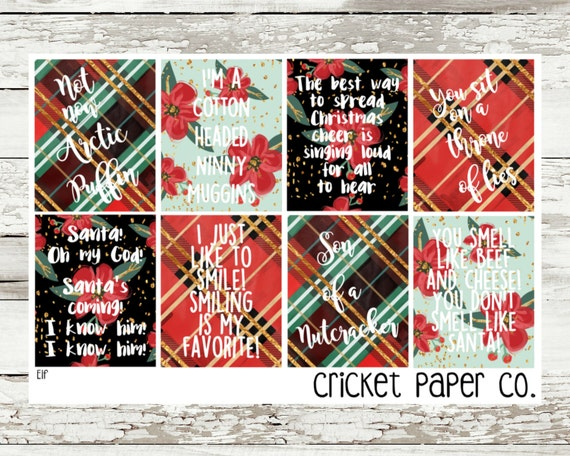 Christmas Quotes And Sayings Glitter Sticker Decal: Elf Movie Quote Stickers By CricketPaperCo On Etsy