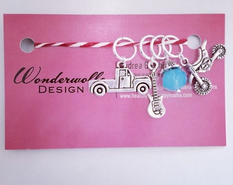 Boys and Their Toys Stitch Marker Set