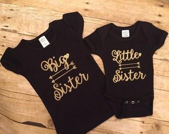 Big Sister. Little Sister. Matching Shirt. Arrow Shirts. Sibling Shirts. Sister Shirts