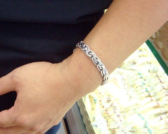 twist woven chains 925 sterling silver bracelet
