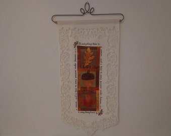 "Stunning Vintage Lace ""Autumn"" Wall Hanging"