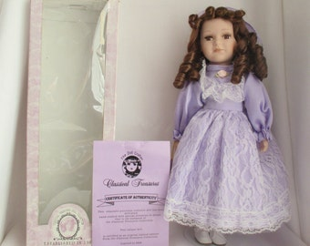 Classic Treasures Fine Bisque Porcelain Collectable Doll - 1980 - In Original Box