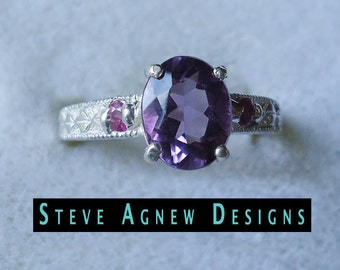 Amethyst and Ruby Ring