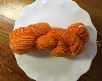Orange Kettle Dyed Wool Yarn