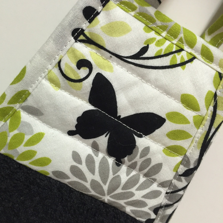 Butterfly Kitchen Towel-Butterfly Decor-Black By Thestuffedcat