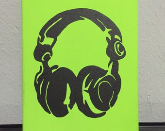 8x10 Headphone Painting