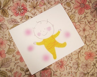 Baby blank card