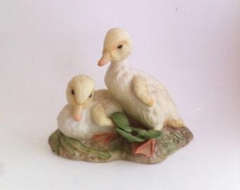 Cybis Porcelain Buttercup & Daffodil Ducklings 1977