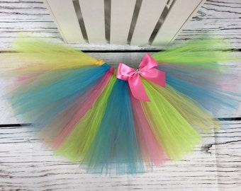 Cake smash tutu. Baby girl tutu. Rainbow tutu. Birthday tutu. Available in other colors!!!