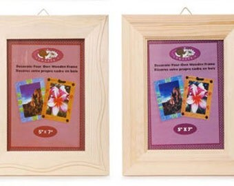 Ready to Decorate  5x7 Picture Frames, Decorate your own wooden picture frame, Unfinished Wood Picture Frame, 5x7 Unfinished Wood Frame