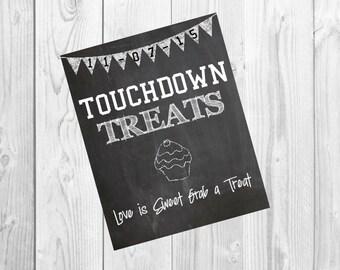 Touchdown Treats Sign, Digital download, Dessert table sign, Dessert table, Treat sign, Treat table