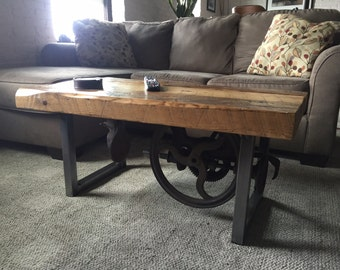 Rustic reclaimed coffee table