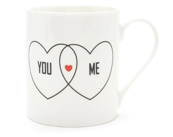 You Me Heart Graphic Mug - Prefect for your Significant Other!