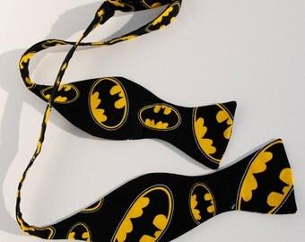 Men's Batman Adjustable  Self Tie Bow Tie Butterfly Width