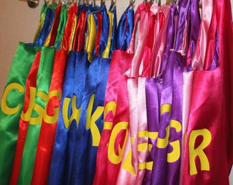 Superhero Party, party capes, superhero birthday, party pack of capes, personalized favor, party favors, cape party favors, birthday gift