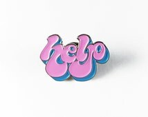 """Help Enamel Pin, Lapel Pin, Dice, Free Shipping on all order over 30 dollars with code """"free30"""""""