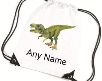 Personalised DINOSAUR/T REX PE/Swim/School Bag