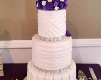 Pleated Faux Wedding Cake