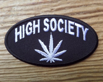 High Society embroidered patch
