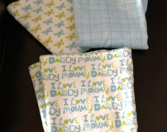 Baby Shower Gift, Burp Cloths, Baby Boys, Baby Boys