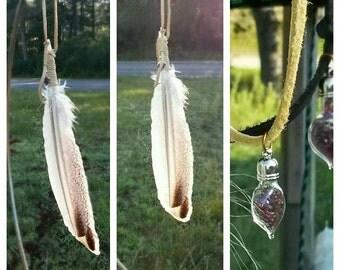 Prayer Feather,Spirit Feather,Smudge Fan, Fancy Dance