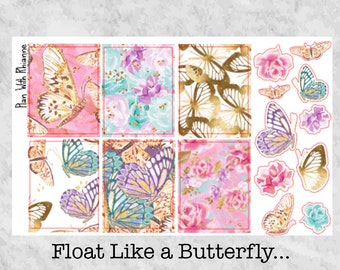 Float Like a Butterfly... Full Boxes and Deco for the Erin Condren Life Planner