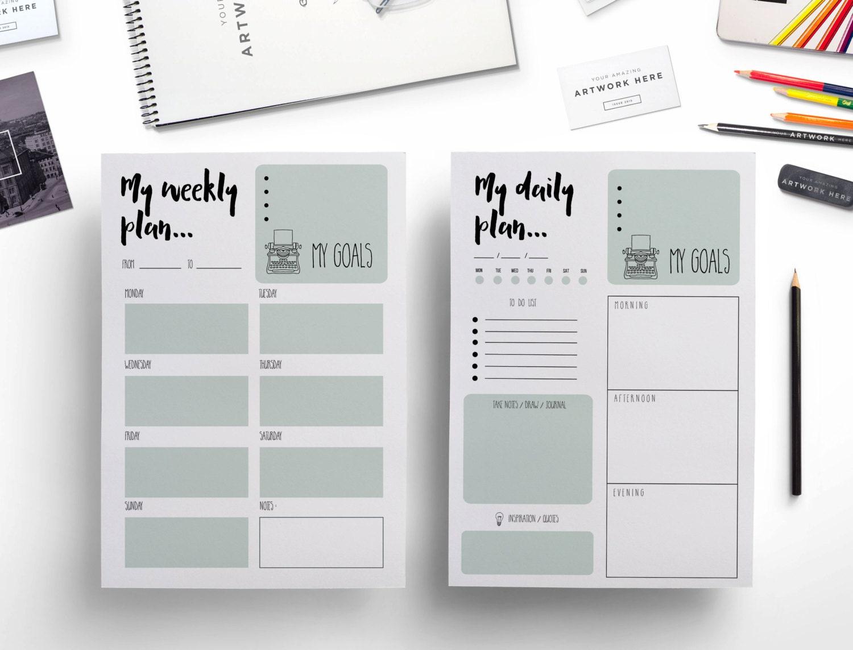 Creative Calendar Planner Design : Elegant printable weekly planner daily