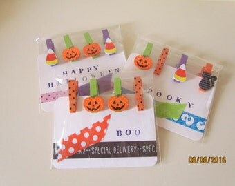 mini clothespins - Halloween clothespins - Halloween accessories - packaging - letter