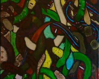 """Acrylic Painting """"Entangled"""" on Canvas"""