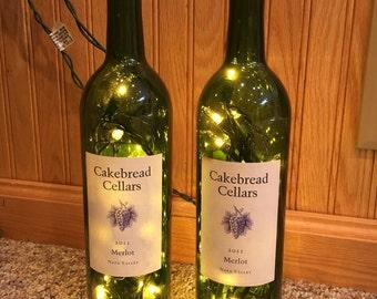 Wine bottle lamps