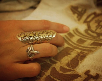 Tribal Brass Ring, Chunky Boho Ring, Statement Ring, Gold Ring, Bohemian Rings, Laser Cut Ring, Gypsy Ring, Tribal Jewelry, Indian Jewelry