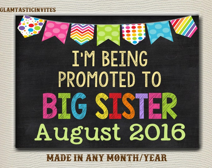 Pregnancy Announcement, Big Sister, Pregnancy Chalkboard, Pregnancy Sign, Going to be a Big Sister, Sister, Baby Announcement, DIGITAL SIGN