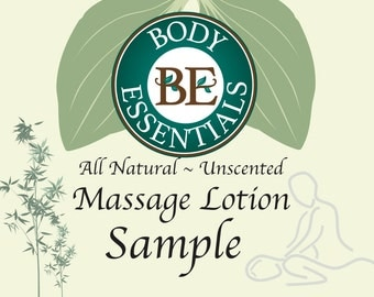 Sample professional Natural Massage therapy Lotion, free shipping,  unscented for sensitive skin, 1 oz