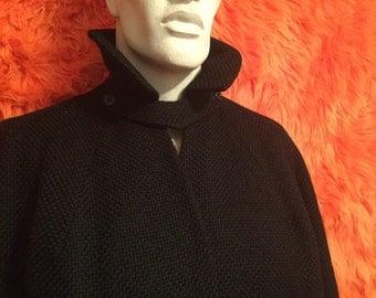 Black Swing Coat vintage retro 50s 60s 70s