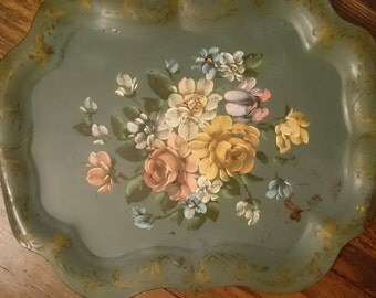 Large Vintage Tole Tray