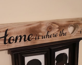Home is where the heart is plaque