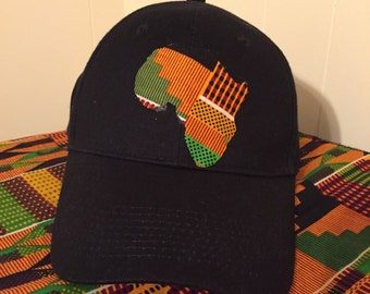 Africa Map Baseball Cap