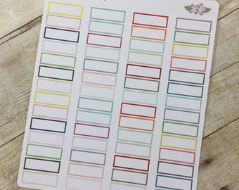 Pastel Shaded Boxes Sized to Fit Vertical Life Planner