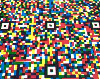 3-color QR Code Broadside Letterpress Print