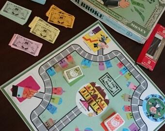Vintage Go For Broke Board Game/Milton Bradley Game/Springfield Massachusetts/1956/Game Room Decor