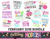 83 Modern Svg Files -February 2016 SVG Bundle - Commerical Use Ok-  Huge Savings - Silhouette Cameo - Cricut- Vinyl Projects - Diy