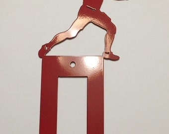Football Light switch Cover is available in  male and female, single and double toggle and decora and your choice of colour