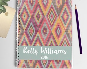 2016 Personalized Planner (Rustic Tribal)