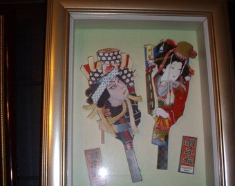 Vintage Asian Pictures and Brass Letters