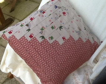 Log cabin cushion cover