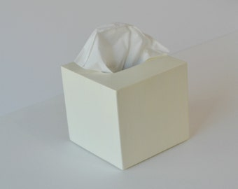 Kleenex Cover (color option); Small wood tissue cover