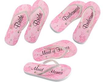 Bridal Bling Flip Flops