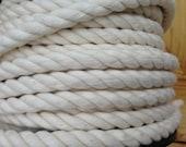 Corde en coton 5 m, cordon de coton, corde décorative naturelle, tordu en corde, corde respectueux de l'environnement